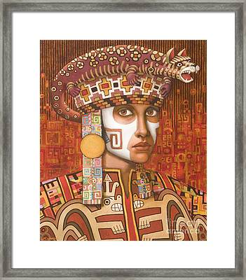 Pre-inca 1 Framed Print by Jane Whiting Chrzanoska