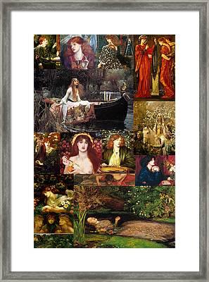 Pre Raphaelite Collage Framed Print