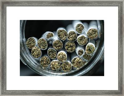 Pre-rolled Medical Cannabis Joints Framed Print by Stock Pot Images