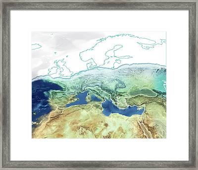 Pre-zanclean Flood Mediterranean Framed Print by Claus Lunau
