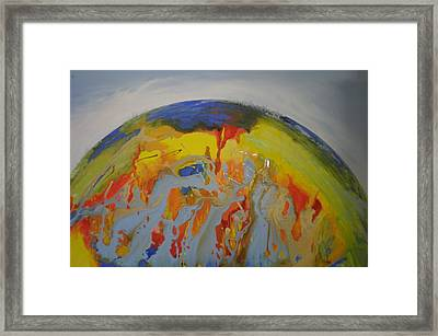 Precarious Inhabitants Framed Print by Clive Holden