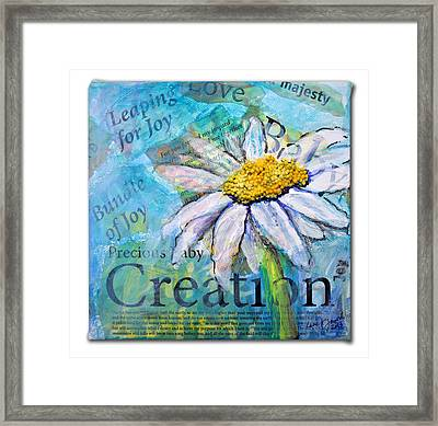 Precious Baby Creation Framed Print by Lisa Fiedler Jaworski