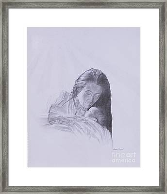 Precious Gift From The Life Of Jesus Series Framed Print by Susan Harris