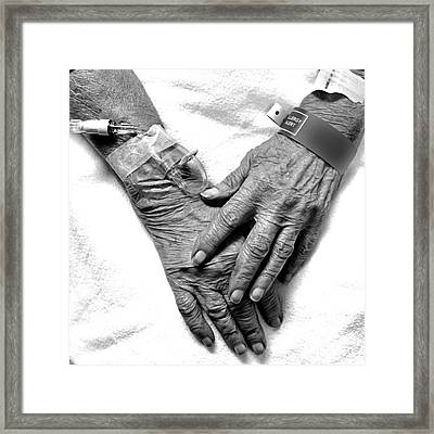 Precious Hands Framed Print