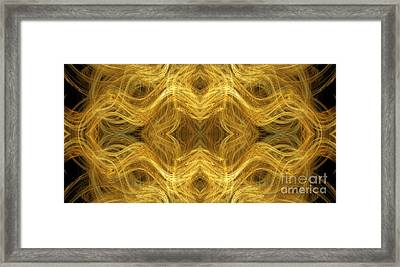 Precious Metal 3 Ocean Waves Panorama Framed Print by Andee Design
