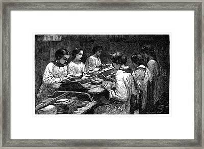 Precious Metal Gilding Framed Print by Science Photo Library