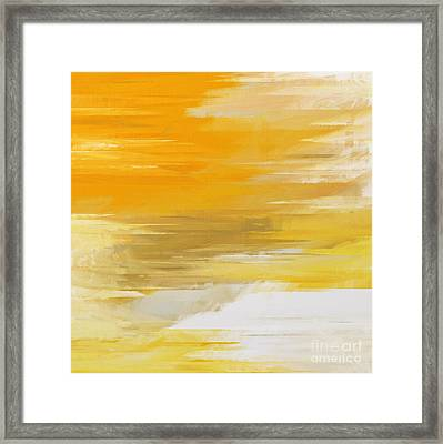 Precious Metals Abstract Framed Print by Andee Design