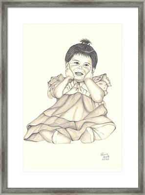 Framed Print featuring the drawing Precious by Patricia Hiltz