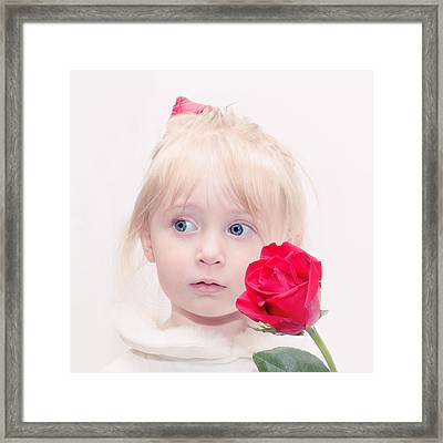 Precious Porcelain Princess Framed Print by Tracie Kaska