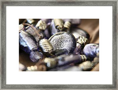 Framed Print featuring the photograph Precious Purple by Lynn England