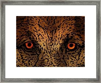 Predator Eyes Framed Print