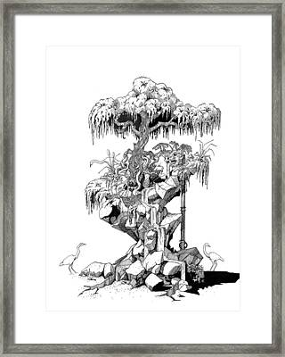 Ptactvo Framed Print by Julio Lopez