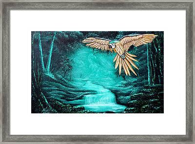 Predator Or Prey Framed Print by Russell  King