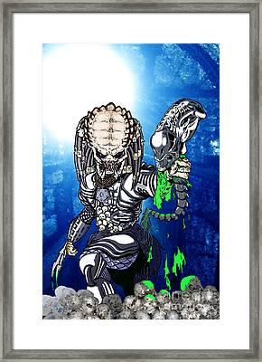 Predator Vs Alien To Be Or Not To Be Framed Print