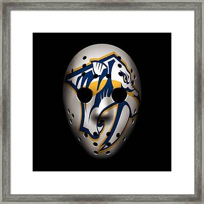 Predators Goalie Mask Framed Print by Joe Hamilton