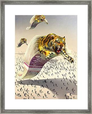 Predatory Financial Institutions, Framed Print by Science Photo Library