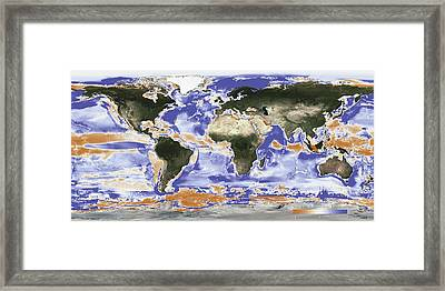 Predicted Fishery Catch Changes By 2050 Framed Print by Noaa