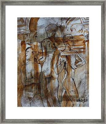 Framed Print featuring the painting Prediction by Robert D McBain