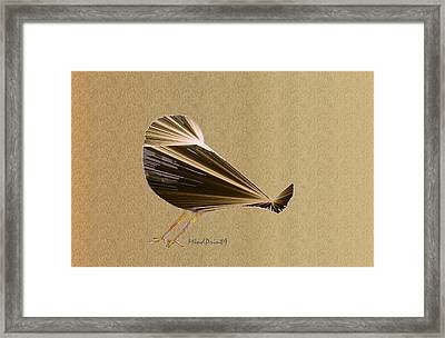 Preening Bird Framed Print
