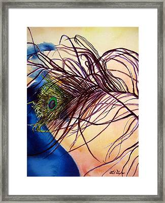 Preening For Attention Sold Framed Print