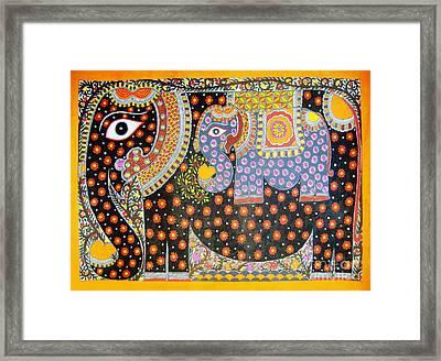 Pregnant Elephant Framed Print