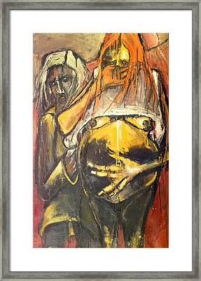Pregnant With Shame Framed Print by Kenneth Agnello
