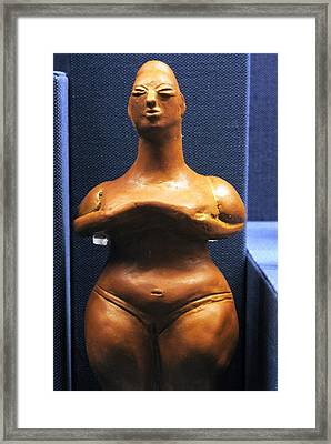 Pregnant Woman Framed Print by Andonis Katanos