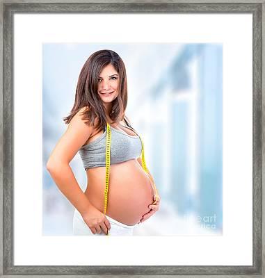 Pregnant Woman In Hospital Framed Print
