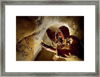 Prehistoric Cave Paintings Framed Print