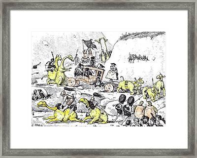 Prehistoric Lord Mayors Show Framed Print
