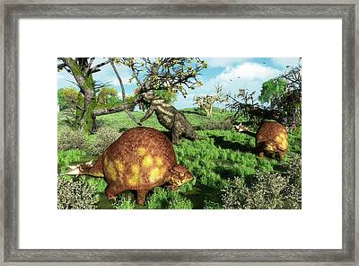 Prehistoric Mammals Framed Print by Walter Myers