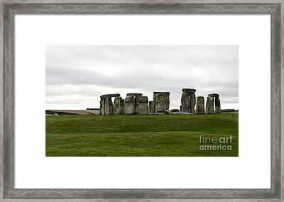 Prehistoric Monument - Stone Henge Framed Print by Christiane Schulze Art And Photography