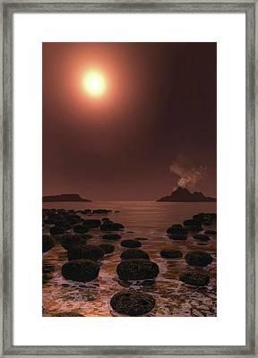 Prehistoric Stromatolites Framed Print by Nicolle R. Fuller