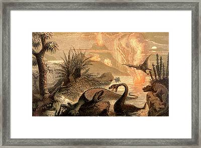 Prehistoric World Framed Print by Collection Abecasis