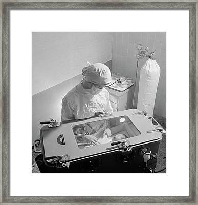 Premature Baby Unit Framed Print by Library Of Congress