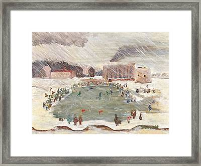 Premier Match De Hockey Framed Print by David Dossett