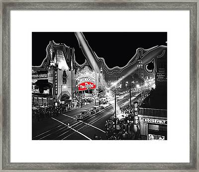 Premier Of The Robe 1953 Grauman's Chinese Theater Los Angeles Ca 1953-2012 Framed Print by David Lee Guss