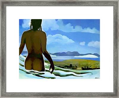 Premonition - Bream Bay Goddess Framed Print by Patricia Howitt