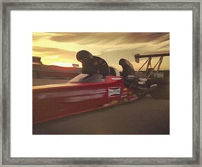 Prepare For Thunder Framed Print by Dennis Buckman