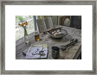 Preparing Dinner With Marjorie  Framed Print by Lynn Palmer