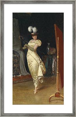 Preparing For The Ball Framed Print by Frederick Soulacroix