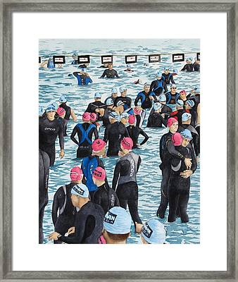 Preparing For The Swim Framed Print by Tanya Petruk