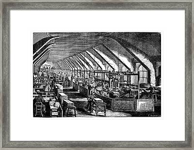 Preparing Lined Paper Framed Print by Science Photo Library