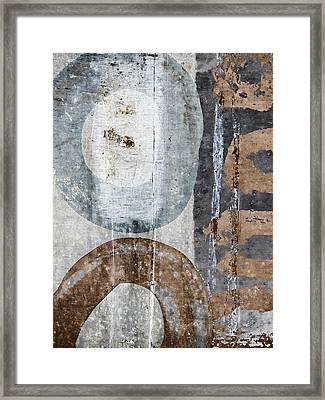 Silken Circles 1 Framed Print by Carol Leigh