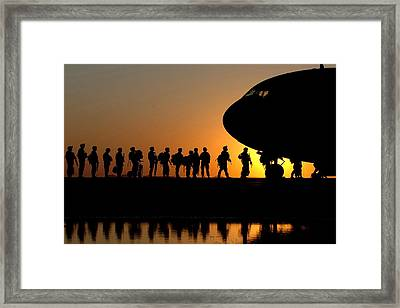Preparing To Leave Framed Print by Mountain Dreams