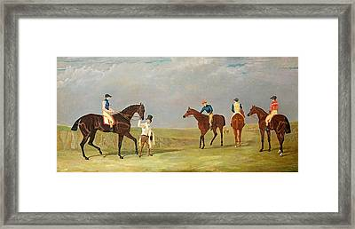 Preparing To Start For The Doncaster Gold Cup 1825 Framed Print