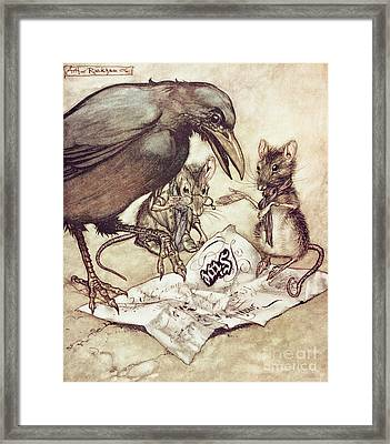 Preposterous Cried Solomon In A Rage From Peter Pan In Kensington Gardens Framed Print by Arthur Rackham