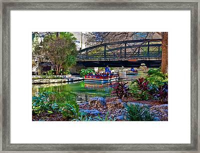 Framed Print featuring the photograph Presa Street Bridge Over Riverwalk by Ricardo J Ruiz de Porras