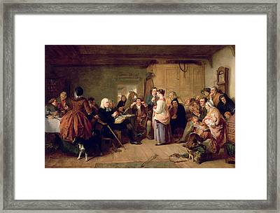 Presbyterian Catechising, 1847 Oil On Canvas Framed Print