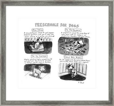 Preschools For Dogs Framed Print